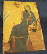 Hc Cloth Book Sienese Painting By Enzo Carli 12 Wood Panel Art Prints Rare