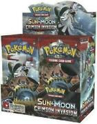 Pokemon Sun And Moon Crimson Invasion 36 Pack Booster Box Factory Sealed