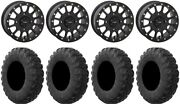System 3 Sb-5 Black 15 Wheels 35 Motovator R/t Tires Can-am Commander Maverick