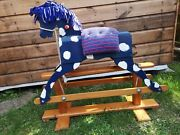 Vintage Wooden Rocking Horse Good Used Condition Upcycle Project