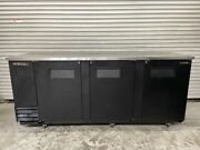 3 Door 4 Keg Draft Beer Cooler 90 True Tbb-4 Solid Black 115v Back Bar 5546