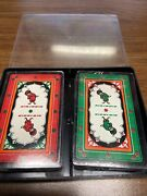 Vintage Air India 2 Decks Of Playing Cards Card Deck Red And Green Aviation Sealed