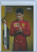 Charles Leclerc 70th Anniversary Gold Refractor 2020 Topps Chrome Formula F1