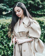 Simone Rocha X Handm Puff-sleeved Trench Coat Size Xs Bnwt Sold Out Bloggers