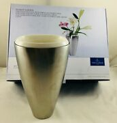 Villeroy And Boch Fusion Goods Large Stainless Steel Vase Porcelain Insert New26cm