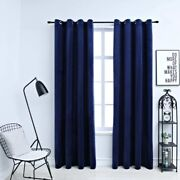 Blackout Lined Backing Heavy Thick Grommet Bay Window Curtain Mulit Size