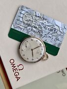 Omega Vintage Antique Rose Pink Gold Pocket Menandrsquos 1950 Swiss Hand Winding Watch