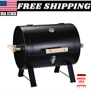Mini Small Smoker 20 In Charcoal Grill Side Fire Box Portable Outdoor Camping