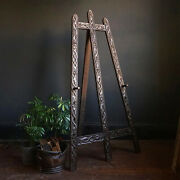Early 20th Century Antique Folk Art Carved Wooden Serpent Artist's Easel