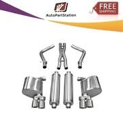 14525 Corsa 304 Ss Cat-back Exhaust System With Quad Rear Exit For Charger 11-14