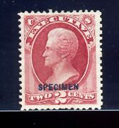 O11s Executive Official Specimen Stamp Position 40 Foreign Entry Variety