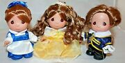 Disney Mini 5 Belle Set From Beauty And The Beast Precious Moments Dolls