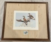 1981-1984 Texas Duck Stamps And Signed Prints.