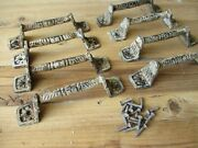8 Distressed Handles Drawer Cabinet Restoration Hardware Iron Pulls Country