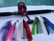 Saltwater Fishing Lures 5 Pack Of New Eye Line Offshore Trolling Skirts