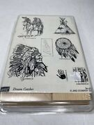 Stampin Up Dream Catcher Stamps Set Euc Retired Native American Indian Horse New