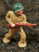 Vintage Barclay Lead Toy Army Soldier Pod Foot Advancing W/rifle Manoil 2.5