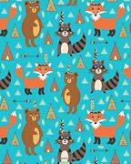 Journal Notebook Cute Tribal Raccoons Foxes And Bears By Cafe Journals New