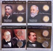 President Collection U.s.dollar Series 4 President 1 Coin Set Gift Package 8pc