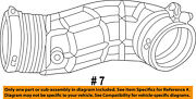 Ford Oem Air Cleaner-to Intake Hose Duct Tube 4l2z9b659ca