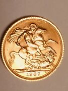 1967 Great Britain Gold Sovereign Elizabeth Ii Coin - Nice Circulated