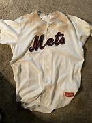 Game Worn Used Binghamton Mets Tim Peterson Autographed Championship Jersey