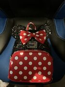 2021 New Disney Parks Loungefly Classic Minnie Mouse Sequin Polka Dots Backpack