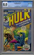 Incredible Hulk 182 Cgc 8.0 1st Hammer And Anvil Wolverine Cameo