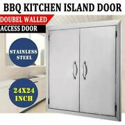 Double Drawer Stainless Steel Kitchen Bbq Door Outdoor Island Cabinets 2424and039and039