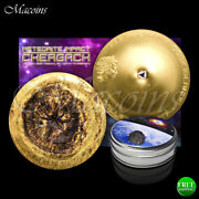Chergach Meteorite Strike 2017 Cook Islands 999 Silver Proof Fully Gilded Coin