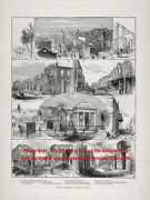 Jamaica Kingston Great Fire Of 1882 Large 1880s Antique Print And Article