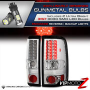 Super Bright Smd Reverse Bulb Chrome Led Tail Light 04-08 Ford F150 All Cabs