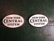 2 Vintage Tin New York Central Systems Railroad Signs
