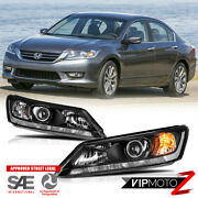For 13-15 Honda Accord 4d W/o Led Drl [factory Style] Replacement Headlight Lamp
