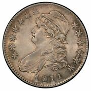 1811 50c Capped Bust Half Dollar Pcgs Au58 Cac Small 8