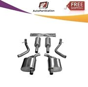 14973 Corsa 304 Ss Cat-back Exhaust System Split Rear Exit For 300/charger 15-16