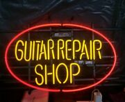 New Guitar Repair Shop Neon Sign 20x16 Light Lamp Store Wall Collection St401