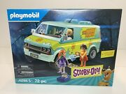 Playmobil Scooby-doo Mystery Machine With Figures 72 Pc 70286 Sealed Velma
