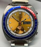 Seiko Watch Silver Blue Red Chronograph Men's Fashionable Cool Classic