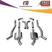14976 Corsa 304 Ss Cat-back Exhaust System With Split Rear Exit For Camaro 10-13