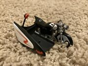 Hot Wheels Mattel 1966 Batcycle And Sidecar Batman Tv Series 112 Scale Used