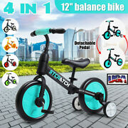 12and039and039 Kid Balance Bike Toddler Walking Bicycle Detachable Pedal Auxiliary Wheel