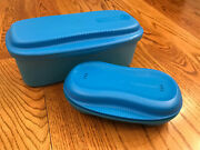 Set Of Two Tupperware Microwave Bowls Breakfast And Pasta Spaghetti Maker New