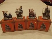 David Winter Cottages A Set - 4 Christmas Ornaments 1992 By John Hine