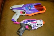 Lot Of 2 Hasbro Nerf Rebelle Secret Spies Spylight And Pink Crush Blasters