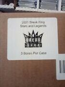 2021 Break King Stars And Legends Factory Sealed Case 3 Boxes Per Case