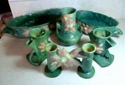 Vintage Roseville Pottery 6 Pieces Vases Planters Bowls Great Condition