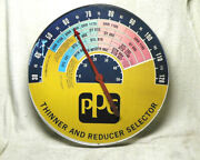 Vintage Advertising Thermometer - Ppg Automotive Paint Thinner 18 Round Gas/oil