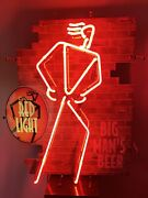 Postmodern Funky 1990s Vintage Coors Light Beer Bar Red Neon Sign 32andrdquo