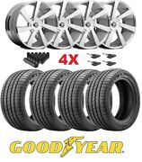 Chrome Wheels Rims Tires 275 55 20 Goodyear F-150 Navigator Expedition Dub